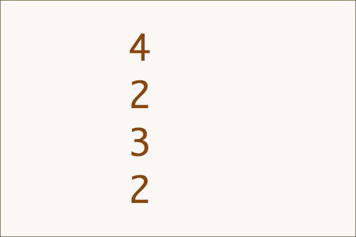 4+2+3+2=11