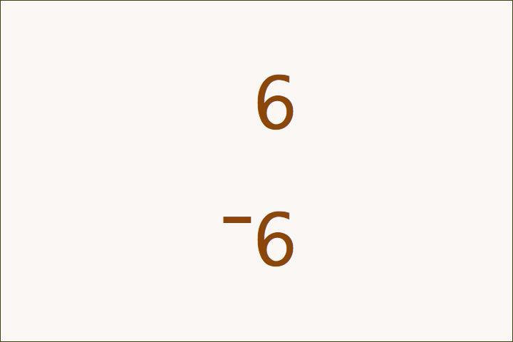 6–6=0