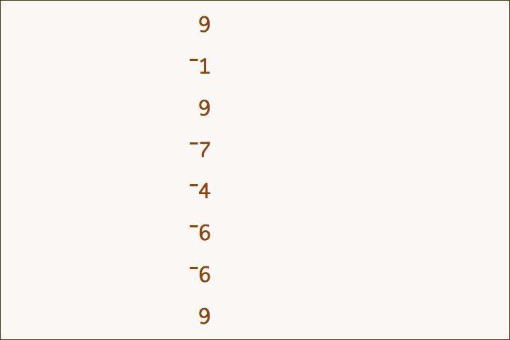 9–1+9–7–4–6–6+9=3